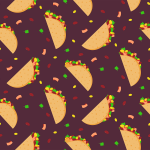Tacos in Langara colours